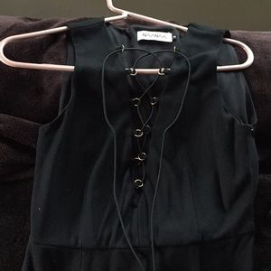 Black tie up dress from LF sexy going out dress